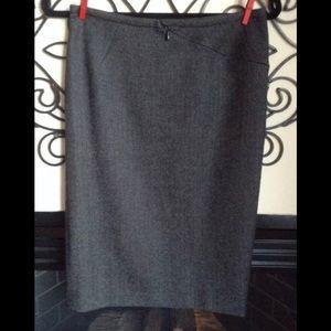 Alessandro dell'acqua Wool Straight Skirt 40 6